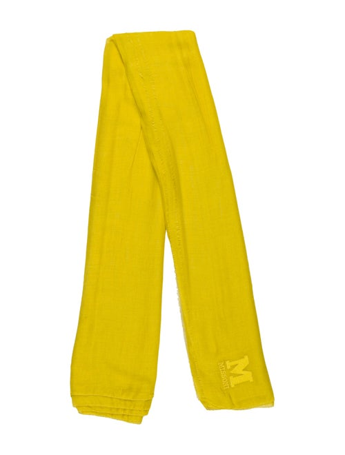 Missoni Knit Scarf Chartreuse