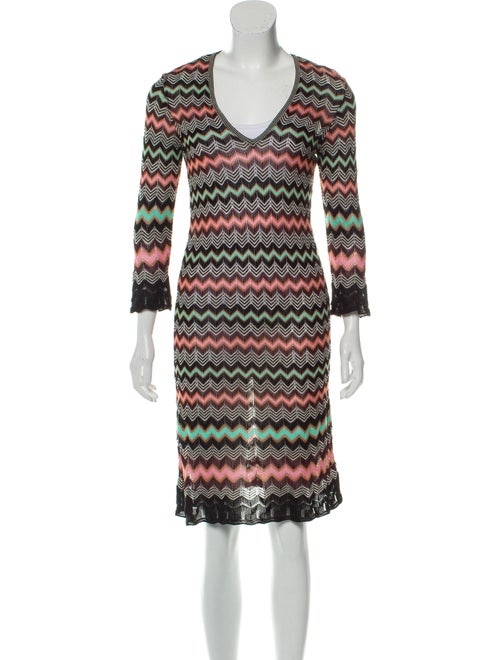 Missoni Chevron Knit Dress Black
