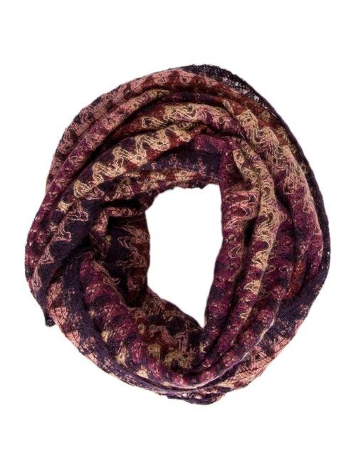 Missoni Mohair Infinity Scarf Purple