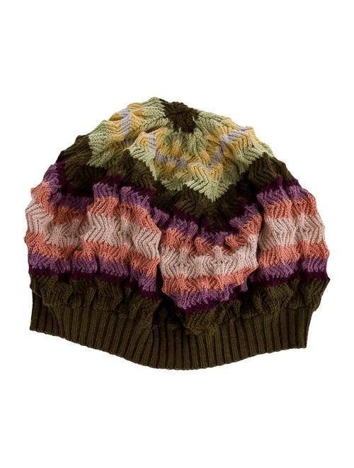 Missoni Wool Knit Beanie Green