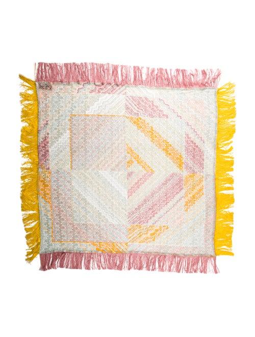 Missoni Knit Fringe Scarf w/ Tags Yellow