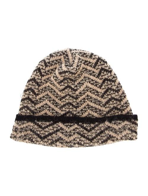 Missoni Knit Beanie Hat Tan