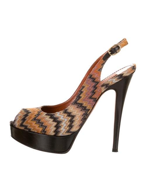 Missoni Knit Platform Sandals Black