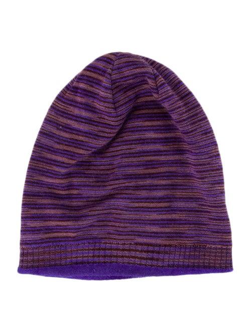 Missoni Knit Beanie Hat Blue