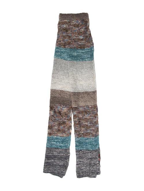 Missoni Striped Knit Scarf Brown