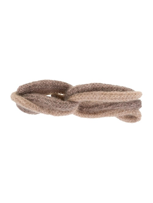 Missoni Mohair Knit Headband Beige