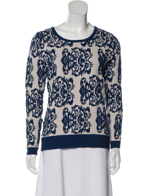 Missoni Knit Crew Neck Sweater Blue