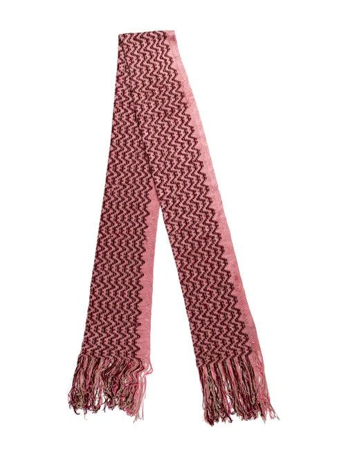 Missoni Metallic-Accented Chevron Scarf Pink