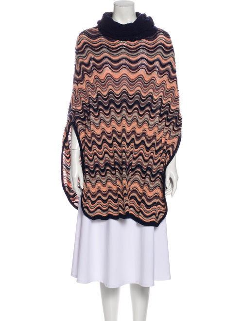 Missoni Striped Turtleneck Sweater Blue