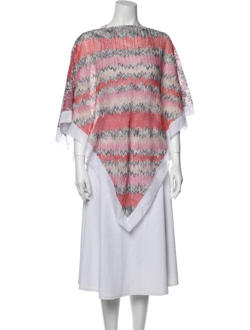Missoni Striped Cowl Neck Sweater Orange