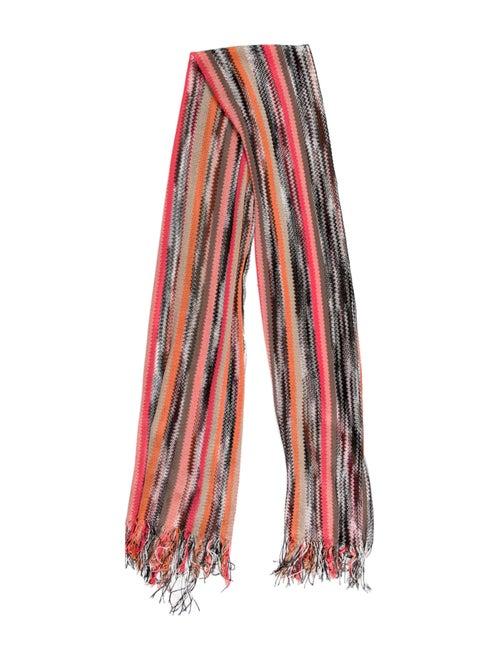 Missoni Knit Striped Scarf Pink