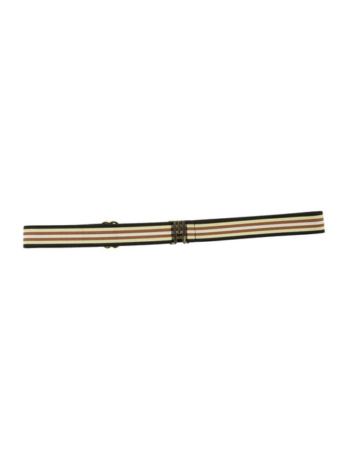 Missoni Stripe Elastic Waist Belt Yellow