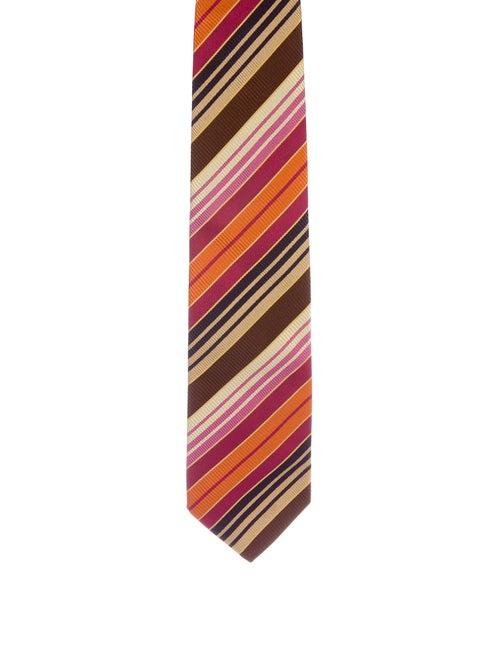 Missoni Striped Silk Tie orange
