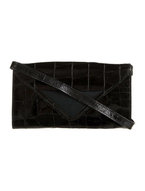 Missoni Embossed Leather Shoulder Bag Black