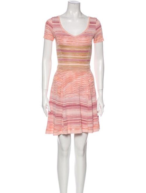 Missoni Striped Mini Dress Pink