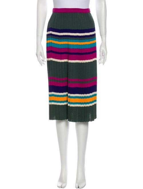 Missoni Striped Knee-Length Skirt Green