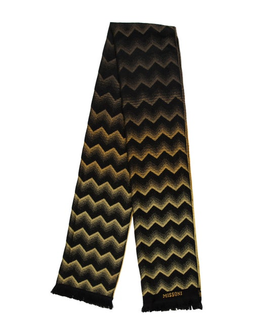 Missoni Wool Fringe Scarf black