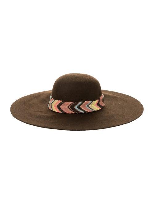 Missoni Wool Wide Brim Hat Brown