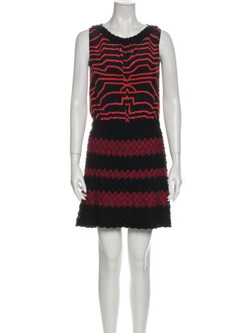 Missoni Striped Mini Dress Black