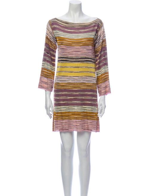 Missoni Striped Mini Dress Purple