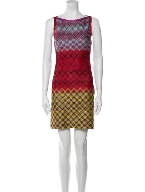 Missoni Printed Mini Dress Metallic
