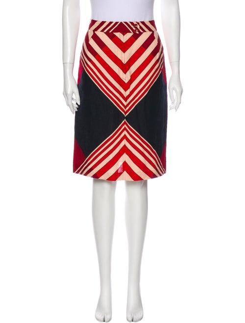 Missoni Linen Knee-Length Skirt Red