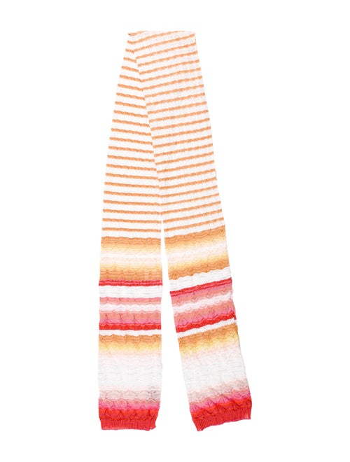 Missoni Stripe Knit Scarf multicolor