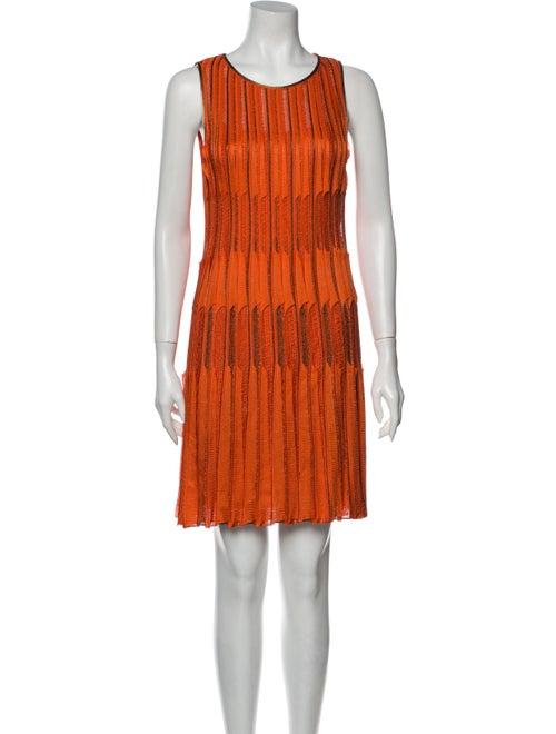 Missoni Silk Mini Dress Orange