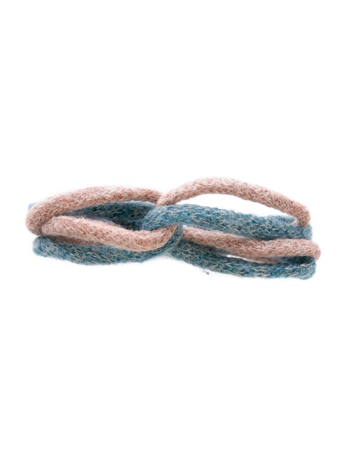 Missoni Knit Headband Blue