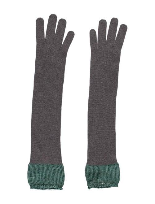 Missoni Silk Knit Gloves Grey