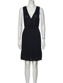 Missoni V-Neck Mini Dress