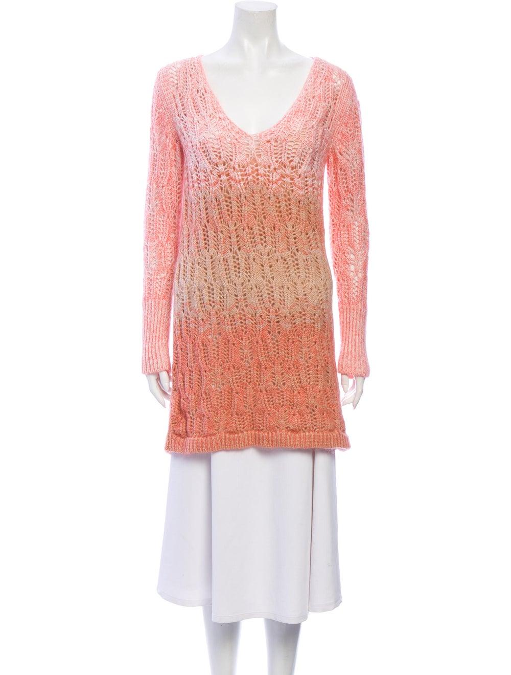 Missoni Cashmere Tie-Dye Print Sweater Pink - image 1