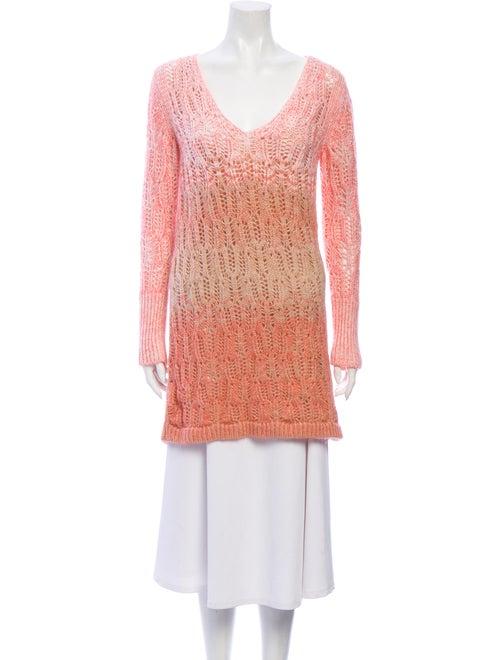 Missoni Cashmere Tie-Dye Print Sweater Pink