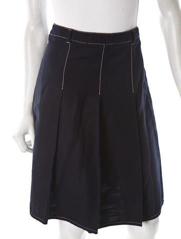 Canvas Pleated Skirt