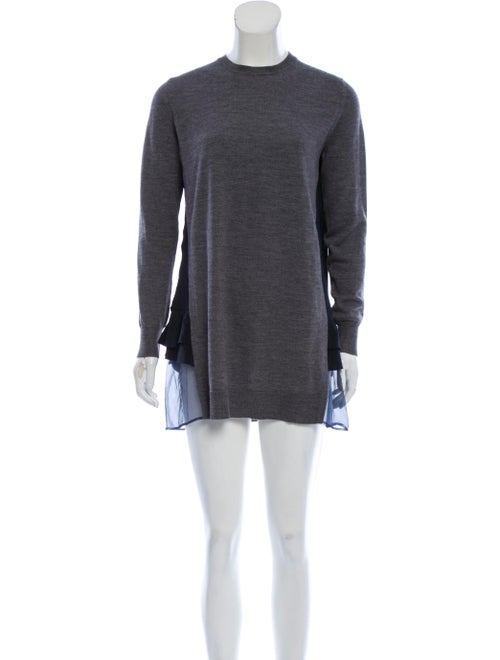 Miu Miu Wool Sweater Dress Grey