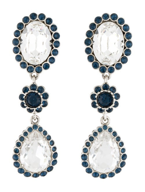 Miu Miu Miu Miu Crystal Clip-On Earrings Silver