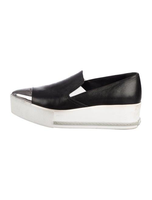 Miu Miu Platform Slip-On Sneakers Black