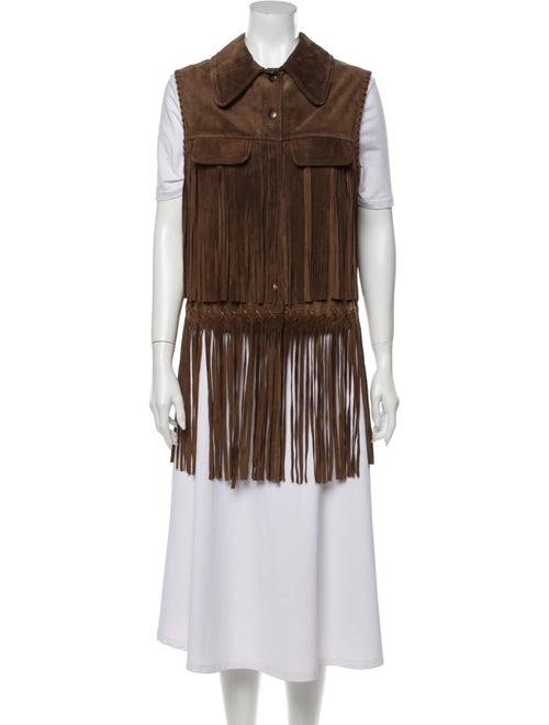 Miu Miu Leather Vest Brown