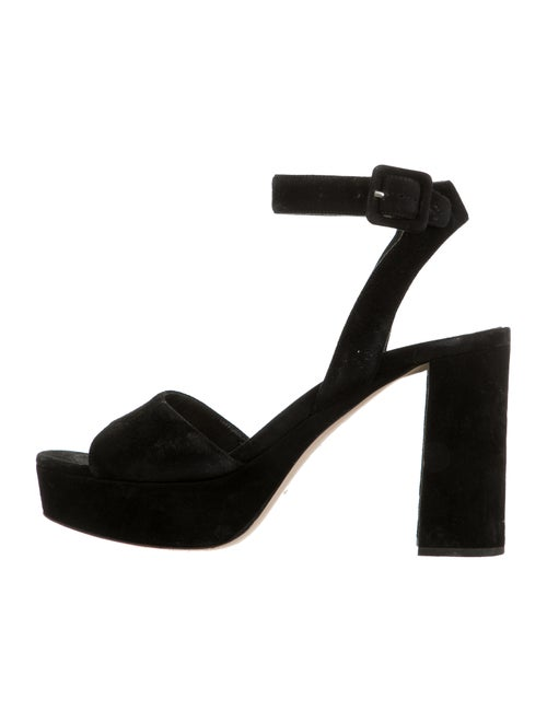 Miu Miu Suede Sandals Black