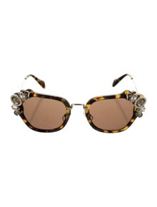 Miu Miu Embellished Tinted Sunglasses
