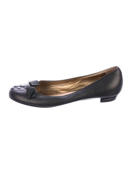Miu Miu Leather Ballet Flats Black