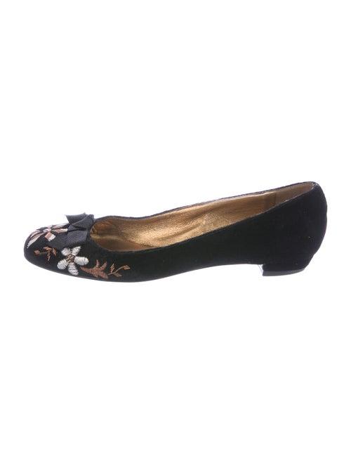 Miu Miu Velvet Ballet Flats Black