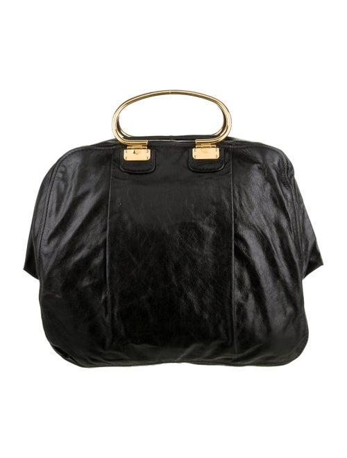 Miu Miu Leather Handle Bag Black