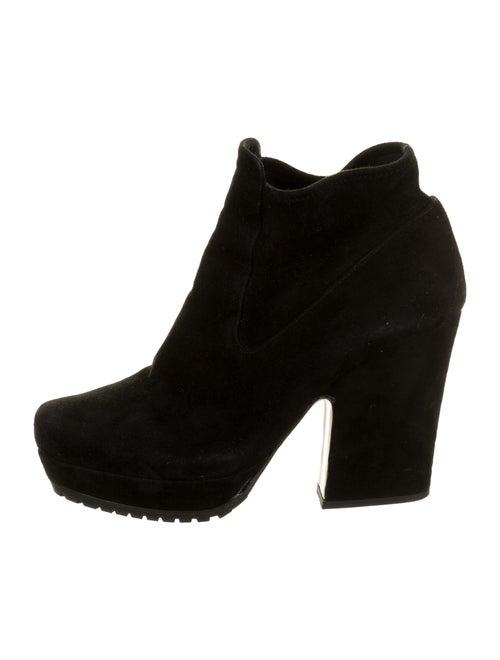 Miu Miu Suede Boots Black
