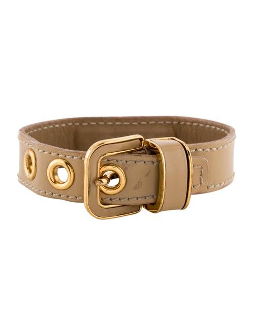 Miu Miu Leather Bracelet gold