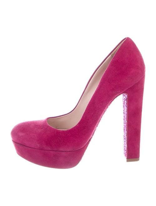 Miu Miu Suede Pumps Pink
