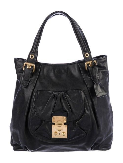 Miu Miu Leather Satchel Black