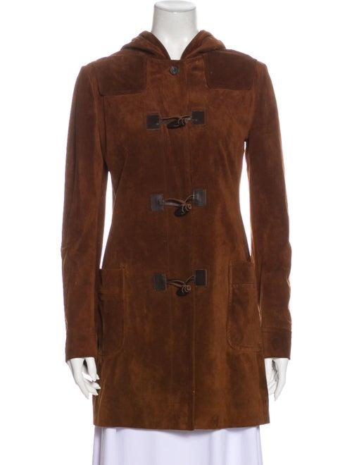 Miu Miu 2008 Leather Coat Brown