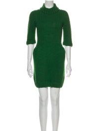Miu Miu Turtleneck Mini Dress