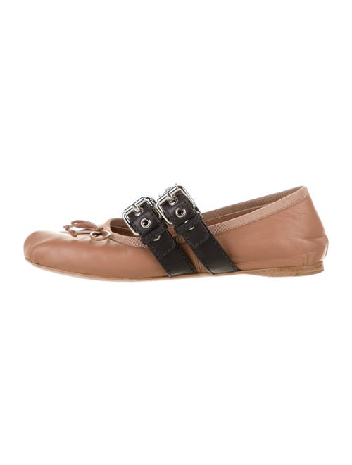 Miu Miu Leather Mary Jane Flats